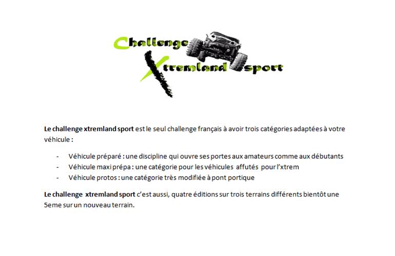 Challenge XtremLand Sport