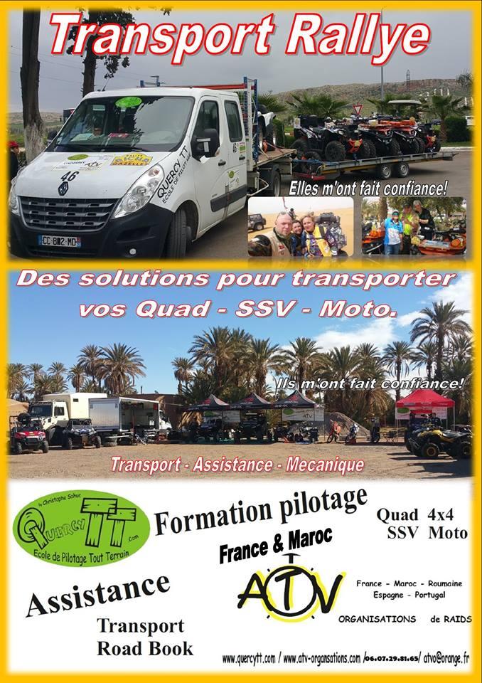 Transport de Quad SSV Enduro pour le Rallye Aïcha des Gazelles .