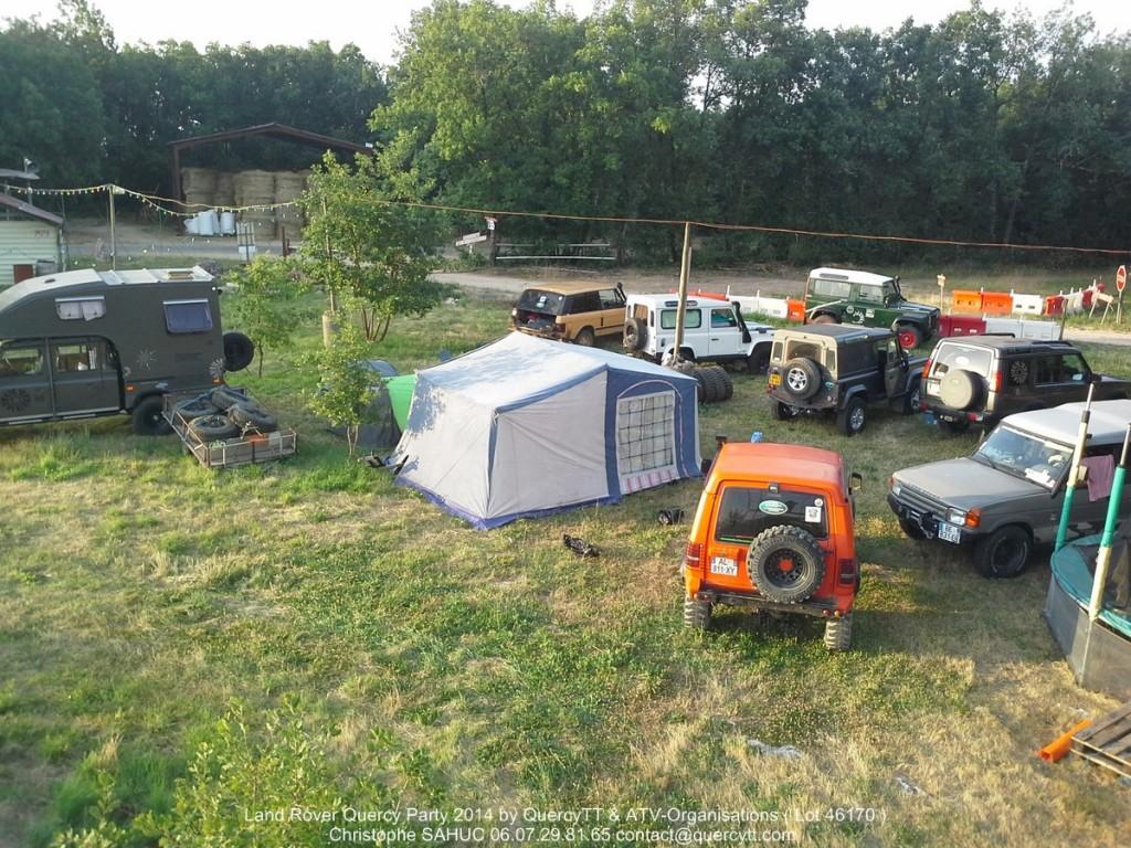 Bivouac 4x4 du Land Rover Quercy Party 2014