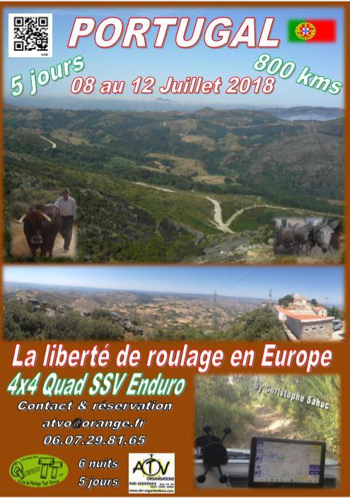 Affiche Raid 5 j Portugal juillet 2018