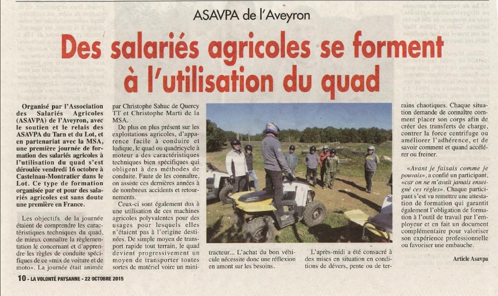 Formation MSA Article ASAVPA