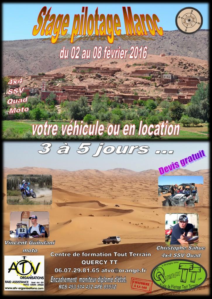 Stage pilotage Maroc Fevrier 2016