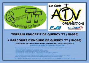 Terrain educatif et parcours d'Enduro FFM