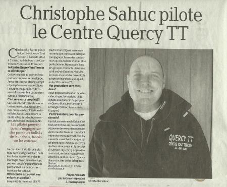 Christophe Sahuc centre Quercy TT