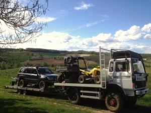 Camion remorque location raid